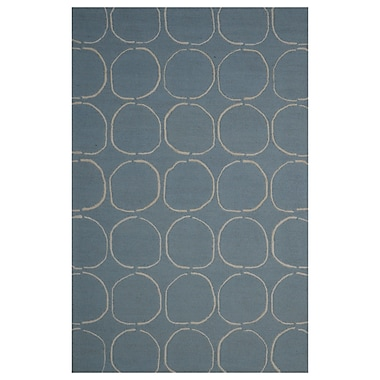 Eastern Weavers Wool Hand-Tufted Light Blue/Ivory Area Rug; 5' x 8'