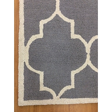 Eastern Weavers Wool Hand-Tufted Silver/Ivory Area Rug; 5' x 8'