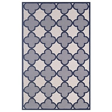 Eastern Weavers Wool Hand-Tufted Ivory/Silver Area Rug; 5' x 8'