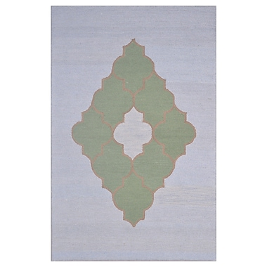 Eastern Weavers Wool Hand-Tufted Blue/Green Area Rug; 5' x 8'