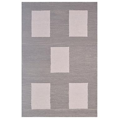 Eastern Weavers Wool Hand-Tufted Beige/Gray Area Rug; 5' x 8'
