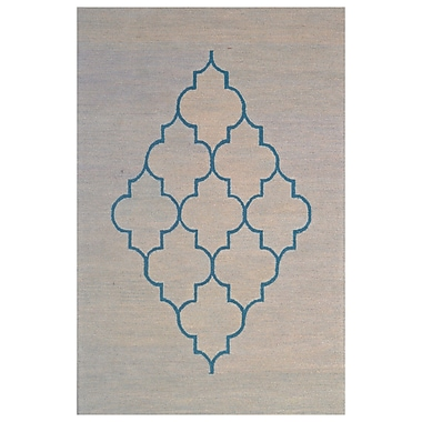 Eastern Weavers Wool Hand-Tufted Blue/Gray Area Rug; 5' x 8'