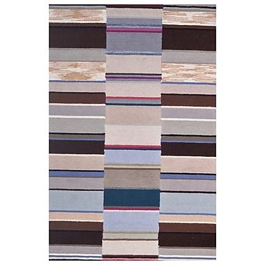 Eastern Weavers Wool Hand-Tufted Ivory/Brown Area Rug; 5' x 8'