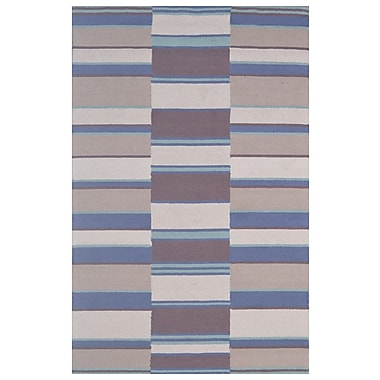 Eastern Weavers Wool Hand-Tufted Ivory/Blue Area Rug; 5' x 8'