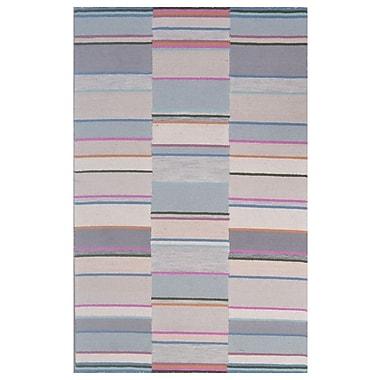 Eastern Weavers Wool Hand-Tufted Beige/Silver Area Rug; 5' x 8'