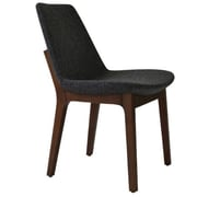 Modern Chairs USA Electra Tower Side Chair; Wool - Charcoal