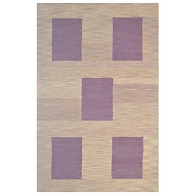 Eastern Weavers Wool Hand-Tufted Brown Area Rug; 5' x 8'