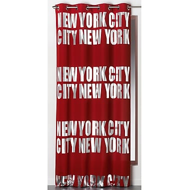 Evideco New York City Blackout Thermal Single Curtain Panel; Red