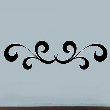 Enchantingly Elegant Scroll Embellishement Border Vinyl Wall Decal; 10'' H x 36'' W