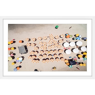 Marmont Hill 'Multicolored Umbrellas' Framed Painting Print; 40'' H x 60'' W x 1.5'' D