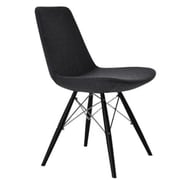 Modern Chairs USA Electra Side Chair; Wool - Charcoal