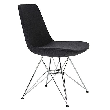 Modern Chairs USA Electra Tower Side Chair; Charcoal