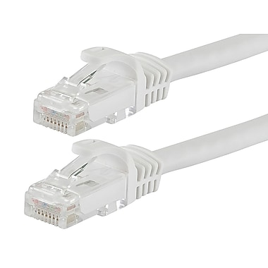 FLEXboot Series Cat6 24AWG UTP Ethernet Network Patch Cable, 30ft White