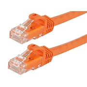 FLEXboot Series Cat5e 24AWG UTP Ethernet Network Patch Cable, 75ft Orange