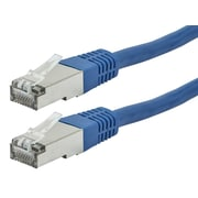 ZEROboot Series Cat6A 26AWG STP Ethernet Network Patch Cable, 7ft Blue