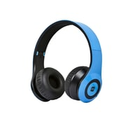 Bluetooth® On-the-Ear Headphones with Built-in Microphone-Blue