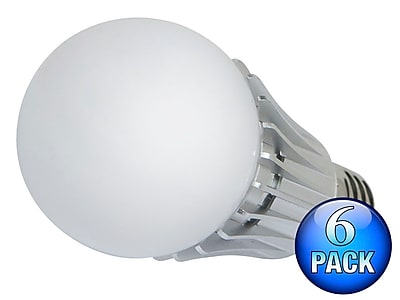 270 degrees 8-Watt (40W Equivalent) A 19 LED Bulb, 630 Lumens, Warm/ Soft (2900K) - Non-Dimmable (6-Pack)