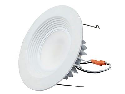 10-Watt (75W Equivalent) 6-inch Recessed LED Downlight Trim, 750 Lumens, Warm/ Soft (3000K) - Dimmable