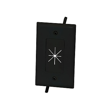 Cable Plate with Flexible Opening, 1-Gang, Black