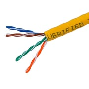 1000FT Cat5e Bulk Bare Cable Copper Ethernet Cable, UTP, Stranded, In-Wall Rated (CM), 350MHz, 24AWG - Yellow - GENERIC