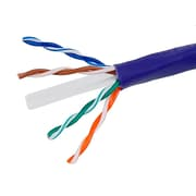 1000FT Cat6 Bulk Bare Cable Copper Ethernet Cable, UTP, Stranded, In-Wall Rated (CM), 550MHz, 24AWG - Purple - GENERIC