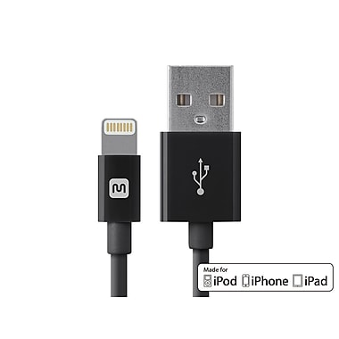 Select Series Apple® MFi Certified Lightning™ to USB Charge & Sync Cable, 3ft Black