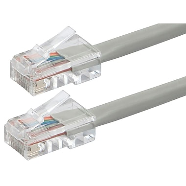 ZEROboot Series Cat6 24AWG UTP Ethernet Network Patch Cable, 15ft Gray