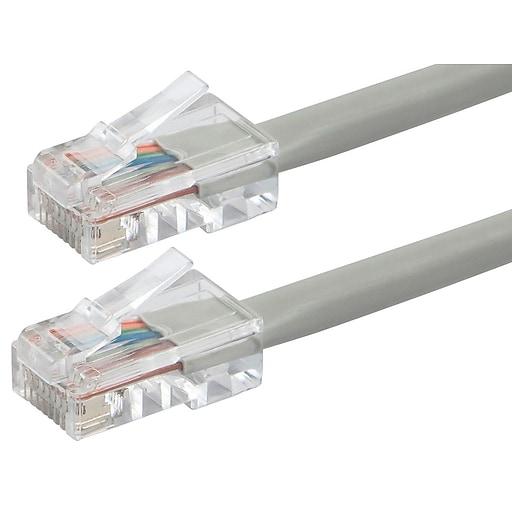 ZEROboot Series Cat6 24AWG UTP Ethernet Network Cable, 100ft Gray