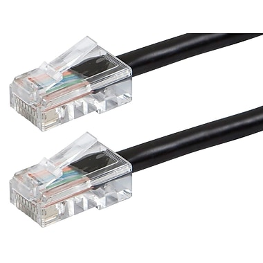 ZEROboot Series Cat6 24AWG UTP Ethernet Network Patch Cable, 1ft Black