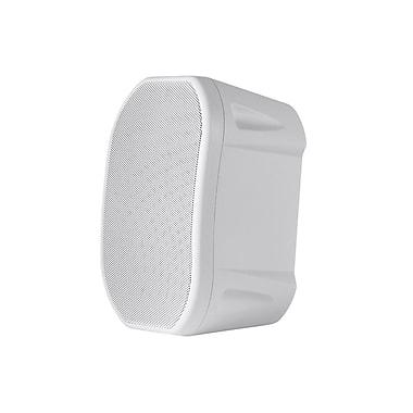 4-inch Weatherproof 2-Way Speakers with Wall Mount Bracket (Pair White)