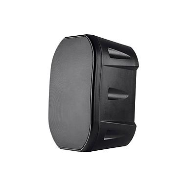 6.5-inch Weatherproof 2-Way Speakers with Wall Mount Bracket (Pair Black)