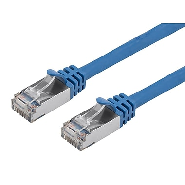 Cat7 26AWG Shielded (S/FTP) Ethernet Network Patch Cable, 50ft Blue