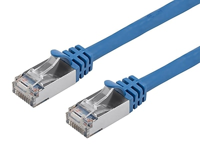 Cat7 26AWG Shielded (S/FTP) Ethernet Network Patch Cable, 5ft Blue