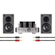 Tube Amp System with Bluetooth 25-watt Stereo Hybrid with 4-inch Select Speakers