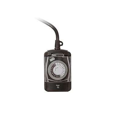 2-Outlet Heavy Duty Outdoor Electromechanical 24hr timer