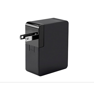 Obsidian Series 2-Port 4.8A International USB Charger with US/EU/UK/AU Plugs