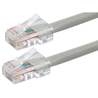 ZEROboot Series Cat5e 24AWG UTP Ethernet Network Patch Cable, 10ft Gray