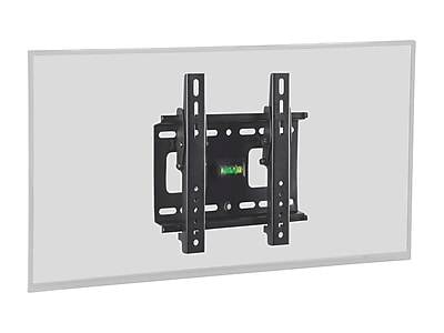 Stable Series Slim Tilting Wall Mount for Small 32 - 42 inch TVs Max 80 lbs Black UL Certified