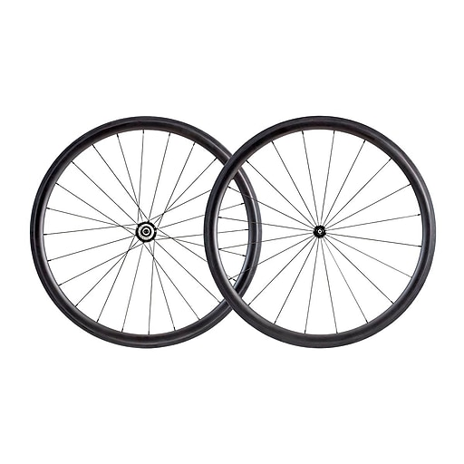 38mm Carbon Clincher Wheelset featuring Sapim CX-Ray Spokes