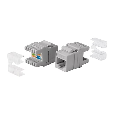 Cat5e RJ-45 Punch Down 180-Degree Short Body 28mm Keystone, Gray