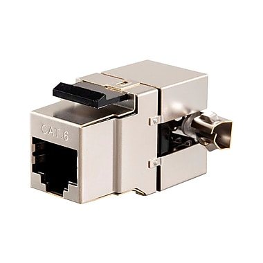 Cat6 RJ-45 Fully Shielded 180-Degree Keystone