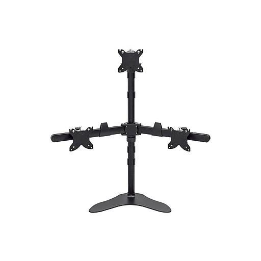 "Triple Monitor Pyramid Free Standing Desk Mount 15"" - 30"""