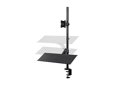 Sit-Stand Monitor and Keyboard Workstation