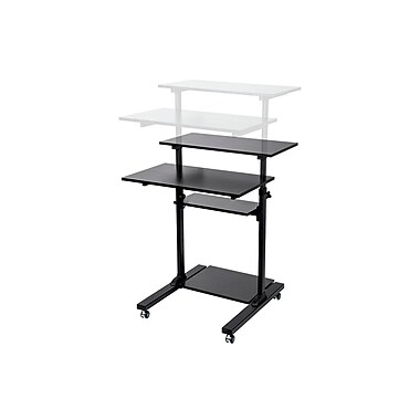 Height Adjustable PC Workstation Cart for Sit-Stand