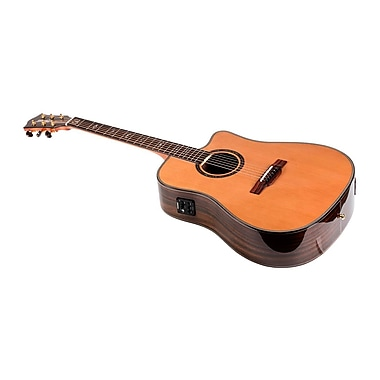 Idyllwild Cedar Solid Top Acoustic Electric Guitar with Fishman® Pickup Tuner and Gig Bag