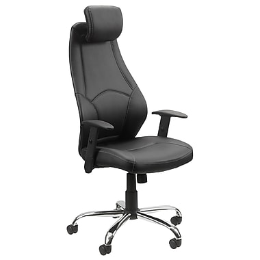 Worksmart Faux Leather Executive Chair with Headrest