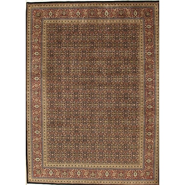 Pasargad Tabriz Hand-Knotted Navy/Rust Area Rug; Runner 2'5'' x 20'
