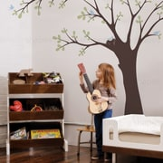 SimpleShapes Ceiling Tree w/ Birds and Nest Wall Decal; Blue