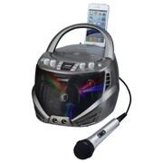 Karaoke USA Portable CDG Karaoke Player with Flashing LED Lights (GQ263)