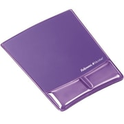Fellowes® Polyurethane/Gel Wrist Support Mouse Pad, Purple (FEL9183501)